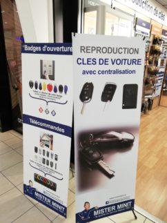Reproduction clés de voiture avec centralisation Mister Minit Centre Commercial Carrefour Purpan
