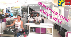 Centre commercial carrefour purpan, vide dressing solidaire, 14 tonnes de vêtements collectés