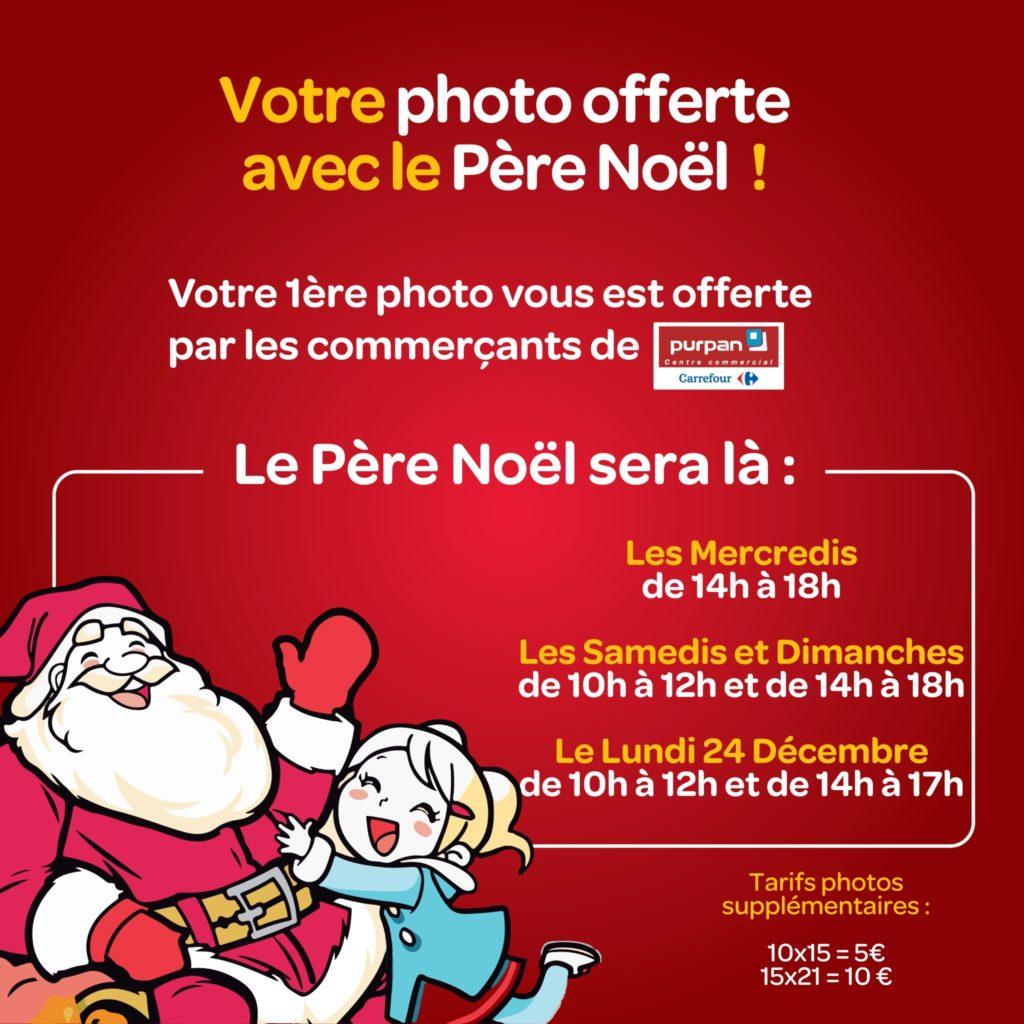 Noël, Centre Commercial Carrefour Purpan, Père Noël, Lutine, Rudolph