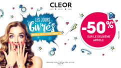 Promotions, jours givres, -50%, Cleor