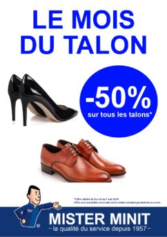 Talons, 50%, promos, Mister Minit